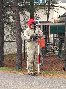 Land Surveyor Danny Moore of Surveying Solutions Inc.